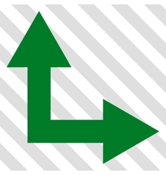 Bifurcation Arrow Right Up Icon vector