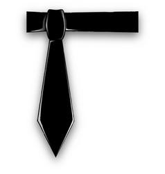 Black tie vector