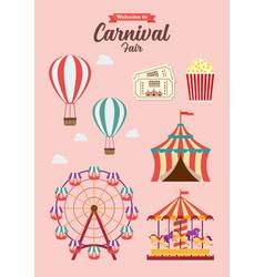 Carnival festival collection vector