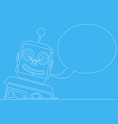 chatbot line concept bot customer service robot vector image