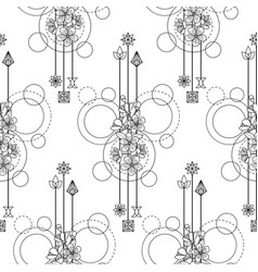 Cherry flowers seamless pattern vector