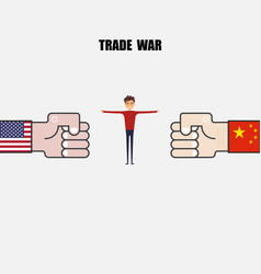 china usa trade warcompetitionmediation or vector image