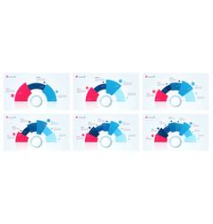 circle chart designs templates vector image