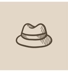 Classic hat sketch icon vector