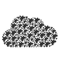 Cloud figure of plugin icons vector