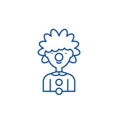 clown line icon concept clown flat symbol vector image