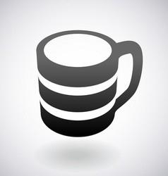 Coffee cup logo vector image