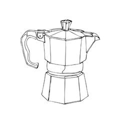 Coffee Percolator clip art hand drawn vector