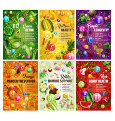Color diet brochure healthy food nutrition vector
