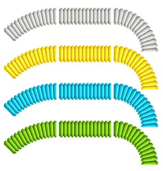 colored corrugated flexible tubes vector image