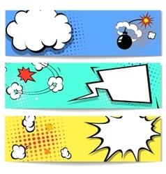 comic speech bubble web header set vector image