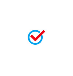 correct choice right vote check mark vector image