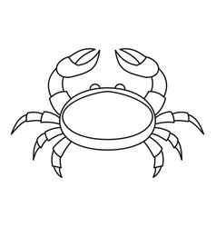 crab icon outline style vector image