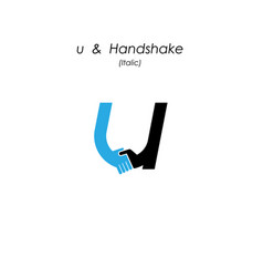 Creative u- letter icon abstract logo design vector
