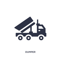 Dumper icon on white background simple element vector