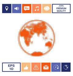 earth - halftone logo vector image