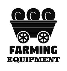 farm transport logo simple style vector image