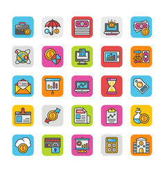 Finance icons 4 vector