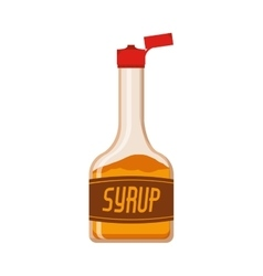 Full color bottle with syrup vector