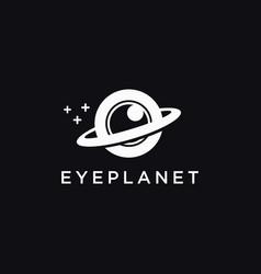 fun eye and ring planet logo icon vector image