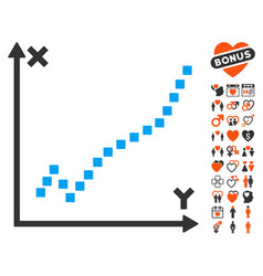 Function plot icon with lovely bonus vector