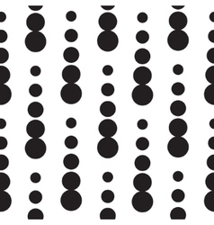 Geometric seamless dot drops pattern in black and vector image
