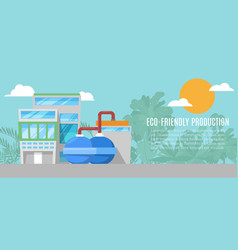 geothermal energy eco friendly production plant vector image