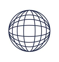 globe world sphere on white background vector image