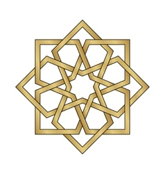 Gold Arabesque Ornament vector image
