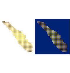 Golden dotted sumatra island map vector