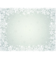 Grey background with border of snowflakes vector