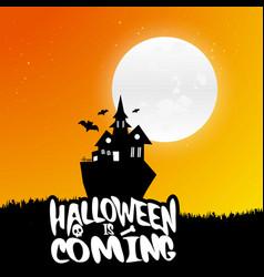 happy halloween scary night background vector image