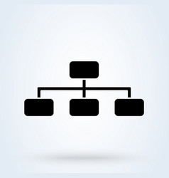 Hierarchical structure sign icon or logo vector