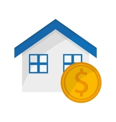 House and money coin icon vector