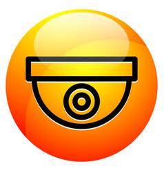 icon with security camera surveillance camera vector image