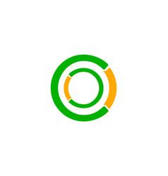 initial letter oc logo design template vector image