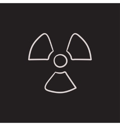 Ionizing radiation sign sketch icon vector image