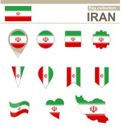 Iran flag collection vector