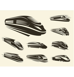 Isolated monochrome modern gravure style train vector
