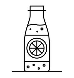 lemonade bottle icon outline style vector image