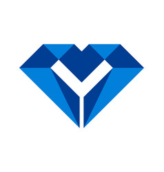 letter m diamond logo icon vector image