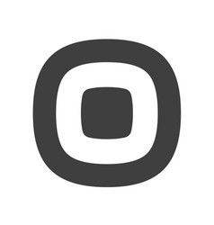 letter o flat web icon or sign isolated on white vector image