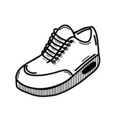 Line comfortable sneakers fitness vector