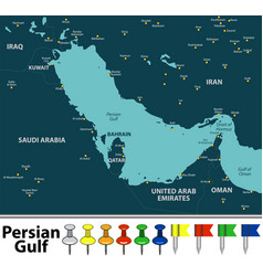 map of persian gulf vector image
