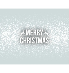 Merry Christmas Retro Design Typography Lettering vector image