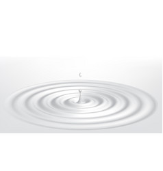 milk ripple with drop vector image