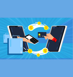 mobile payments online money transfer vector image