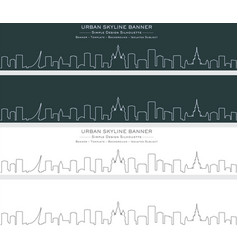 moscow single line skyline banner vector image