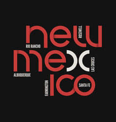 new mexico state t-shirt and apparel vector image