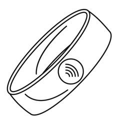 Nfc smart bracelet icon outline style vector